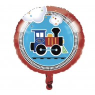 All Aboard Train Birthday Balloon